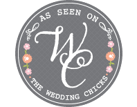 %22As Seen on Wedding Chicks%22 badge